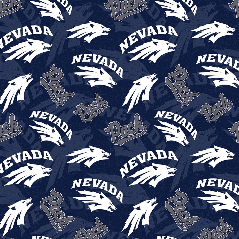 NCAA Nevada University Wolf Pack 1178 Navy Packed Toss