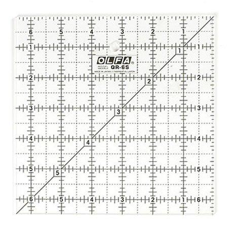 OLFA 6.5X6.5 Square Non-Slip Ruler #1071798