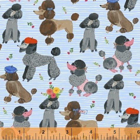 Oodles of Poodles 51489 Blue