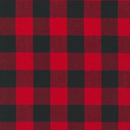 Carolina Gingham 1 9811-93 Red/Black Buffalo Plaid