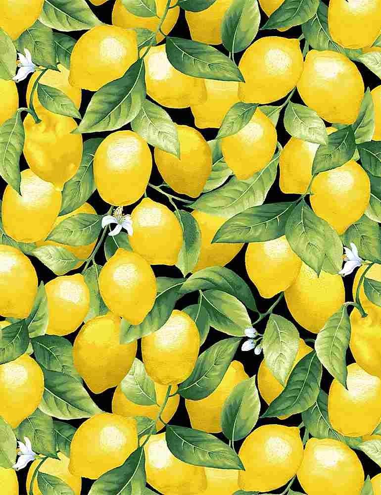 Packed Lemons C8016 Black