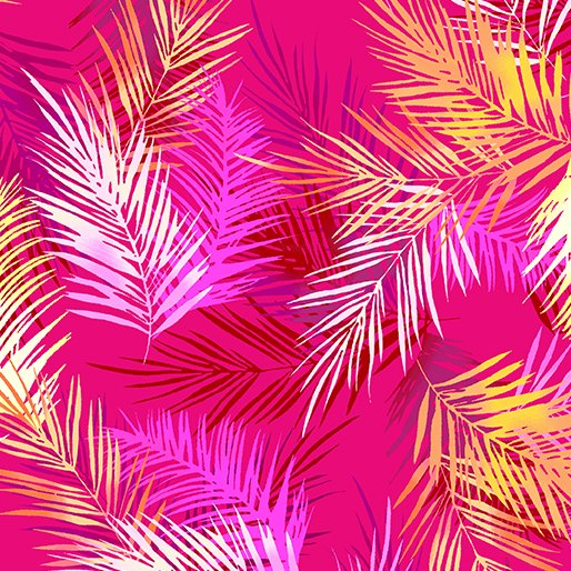 Tropical Breeze 9723 Palms Pink