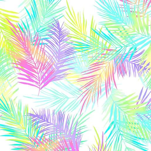 Tropical Breeze 9723 Palms White