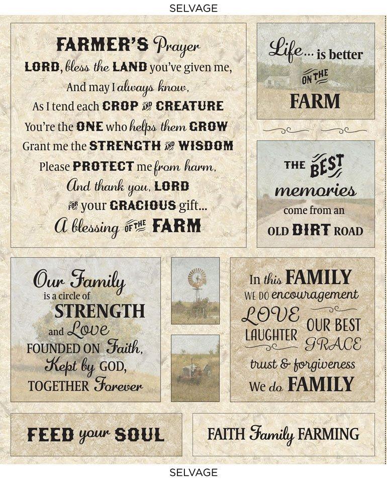 Farmer's Prayer CD8738 Panel