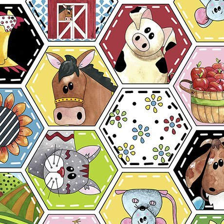 Patchwork Farms 26108-Z Animal Octagons White