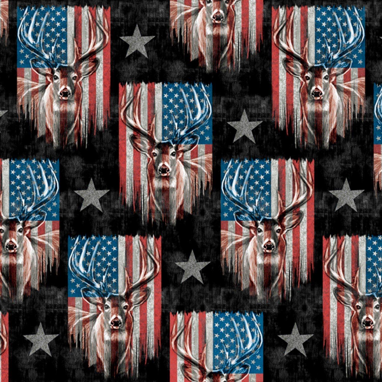Homestead Americana 3139 Patriotic Deer