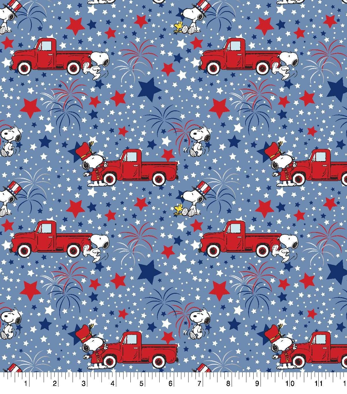 Charlie Brown Peanuts 69980 Patriotic Snoopy Blue Metallic