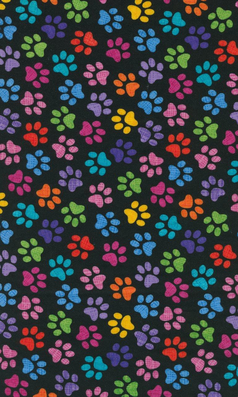 Colorful Paw Prints C9328