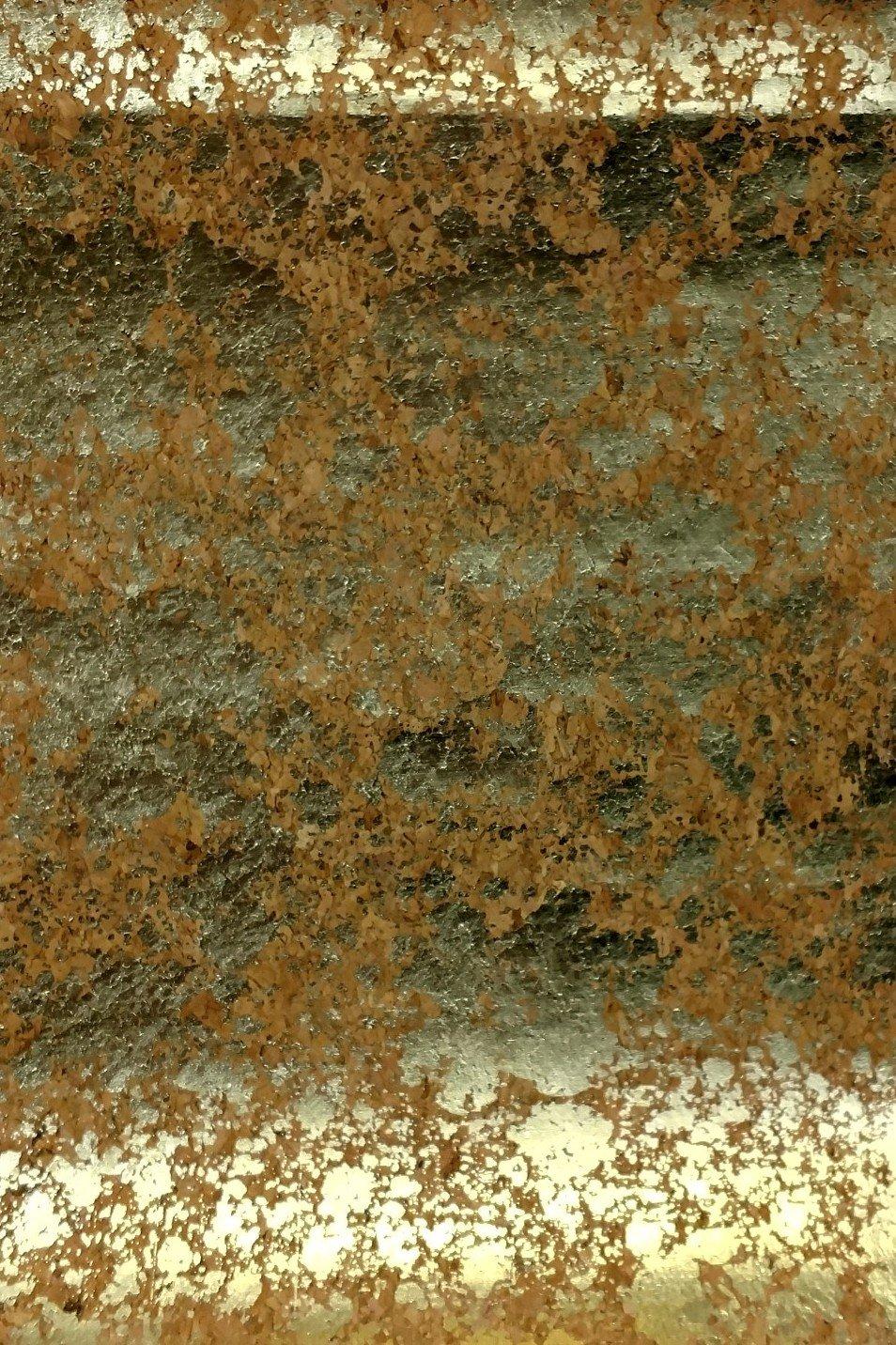 Cork Fabric with Gold Metallic Blots B54C-90-10