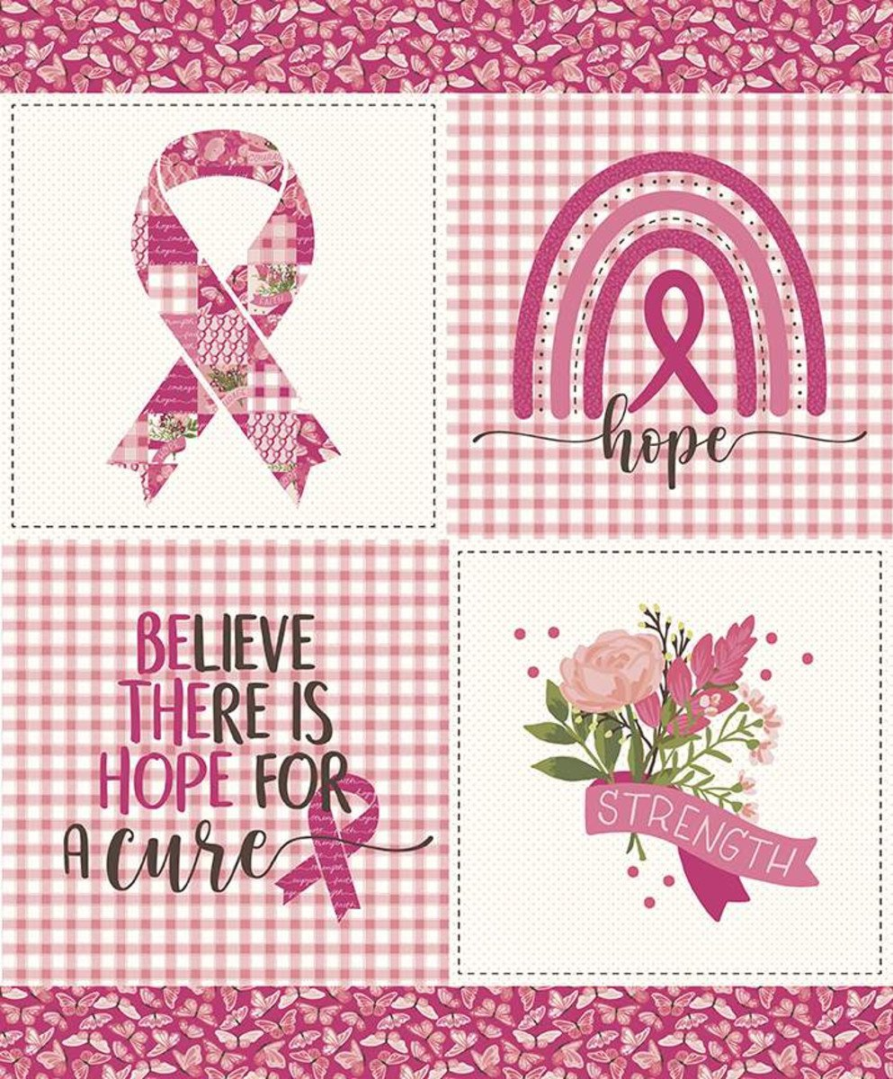 Hope in Bloom PD11026 36Panel Pink