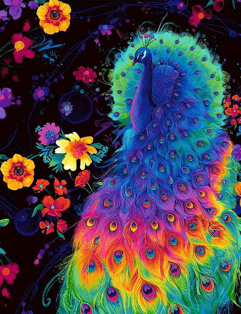 Rainbow Peacock C8412 Birds