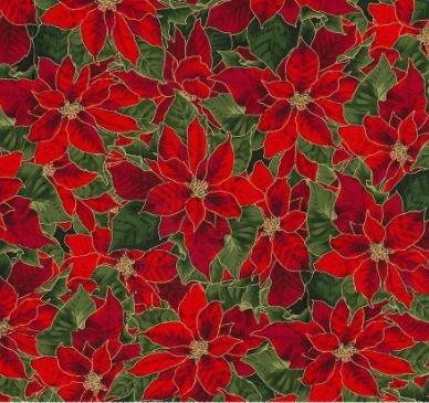 Christmas Poinsettias 8109 Red