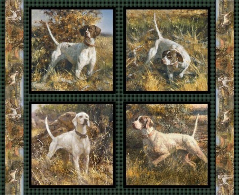 Point North Dogs Pillow Panel 47770