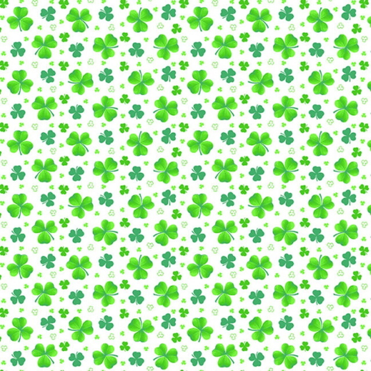 Pot of Gold 9368-16 White Tossed Clovers