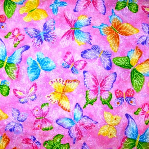 Glitter Butterfly 3296 AS Pink