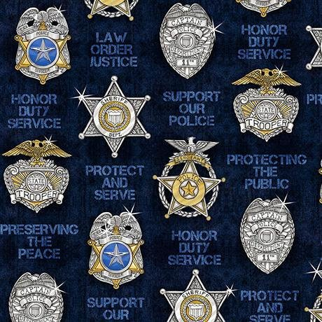 Protect & Serve 26130N Shields on Navy