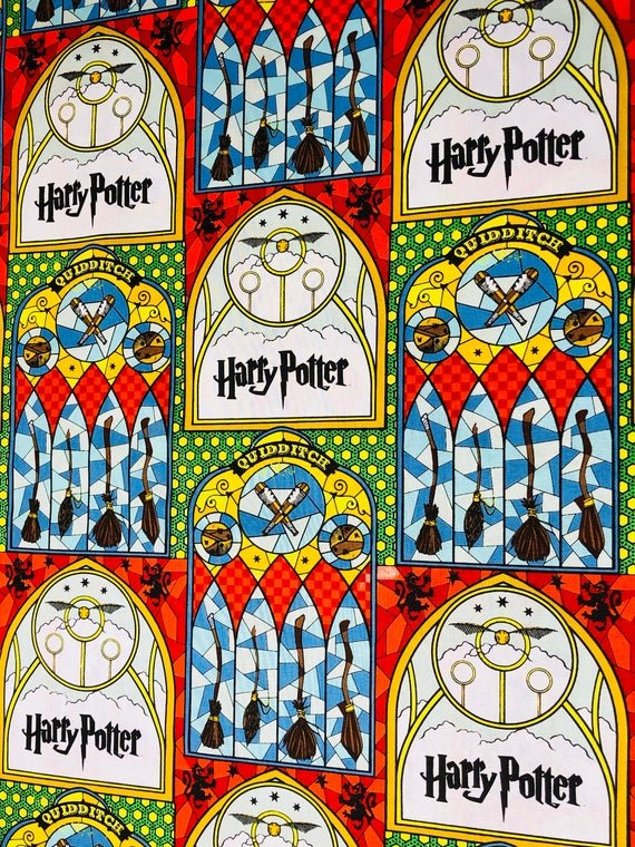 *EOB* Harry Potter 23800142 Quidditch Stained Glass - 0.98 YD