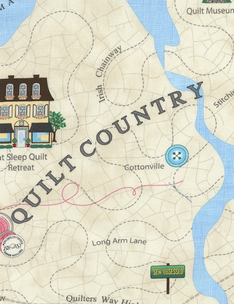 Quilt Country Map C3677