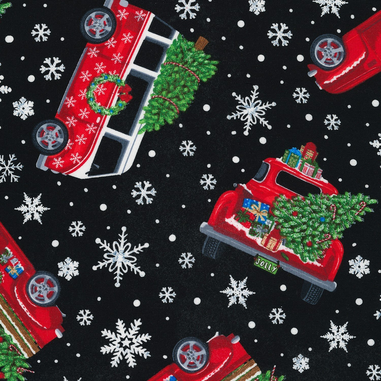 Red Truck Christmas Toss C6887 Black