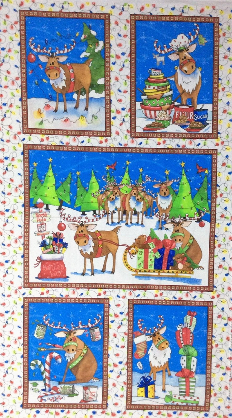 Reindeer Antics 27215-X 24 Panel