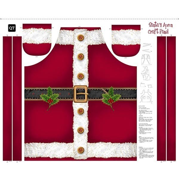 Santa's Apron 25895-R Panel