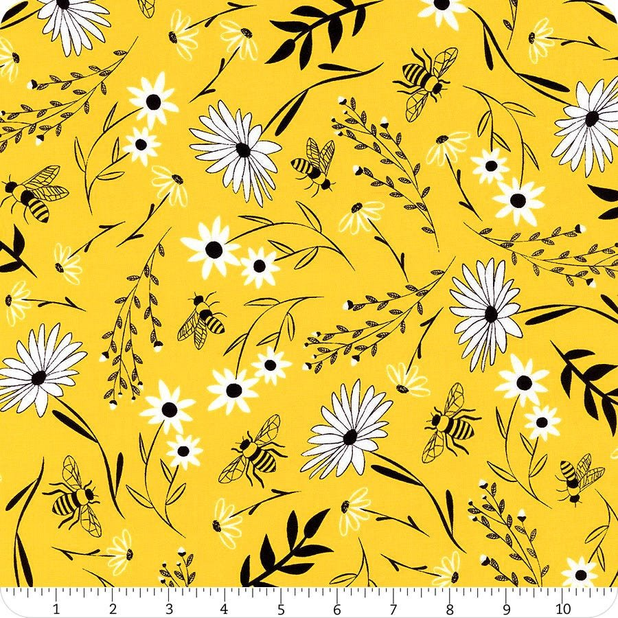 *EOB* Save the Bees C8125 Honey Flowers - .86YD