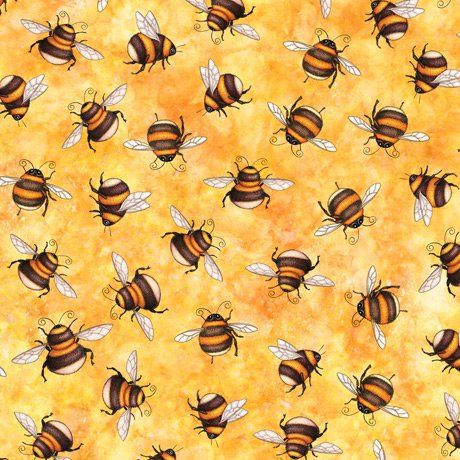 Always Face Sunshine Scattered Bees 27847-S Butter