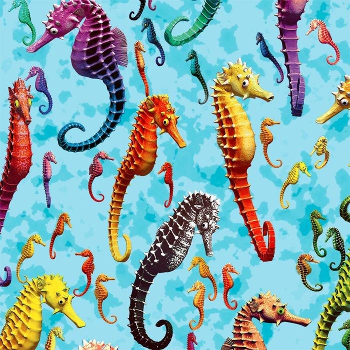 Seahorse Extravaganza 0056 Blue