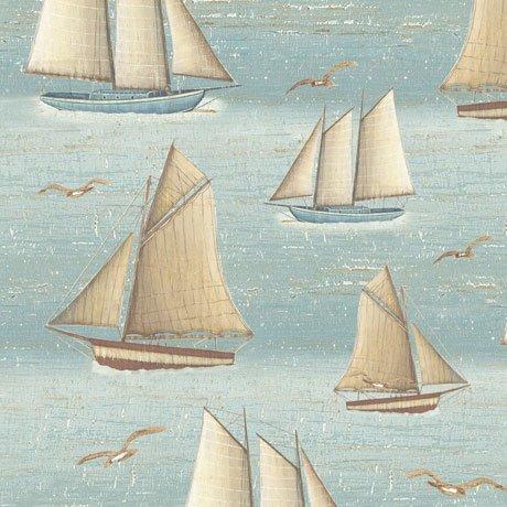Seaside Sailboats Blue 24654 B