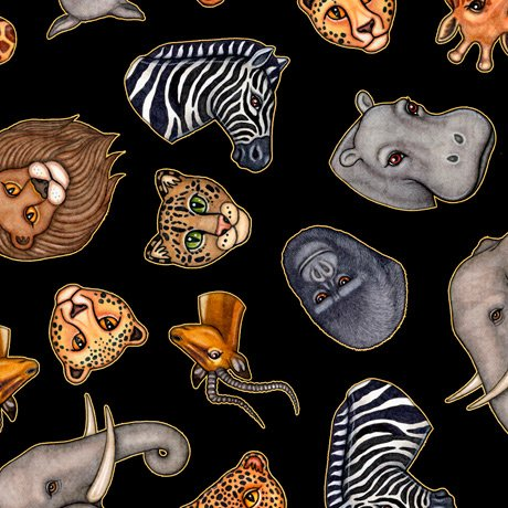 Serengeti 27765 Animal Heads Black