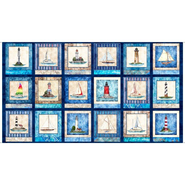Smooth Sailing Lighthouse 27158-N Panel