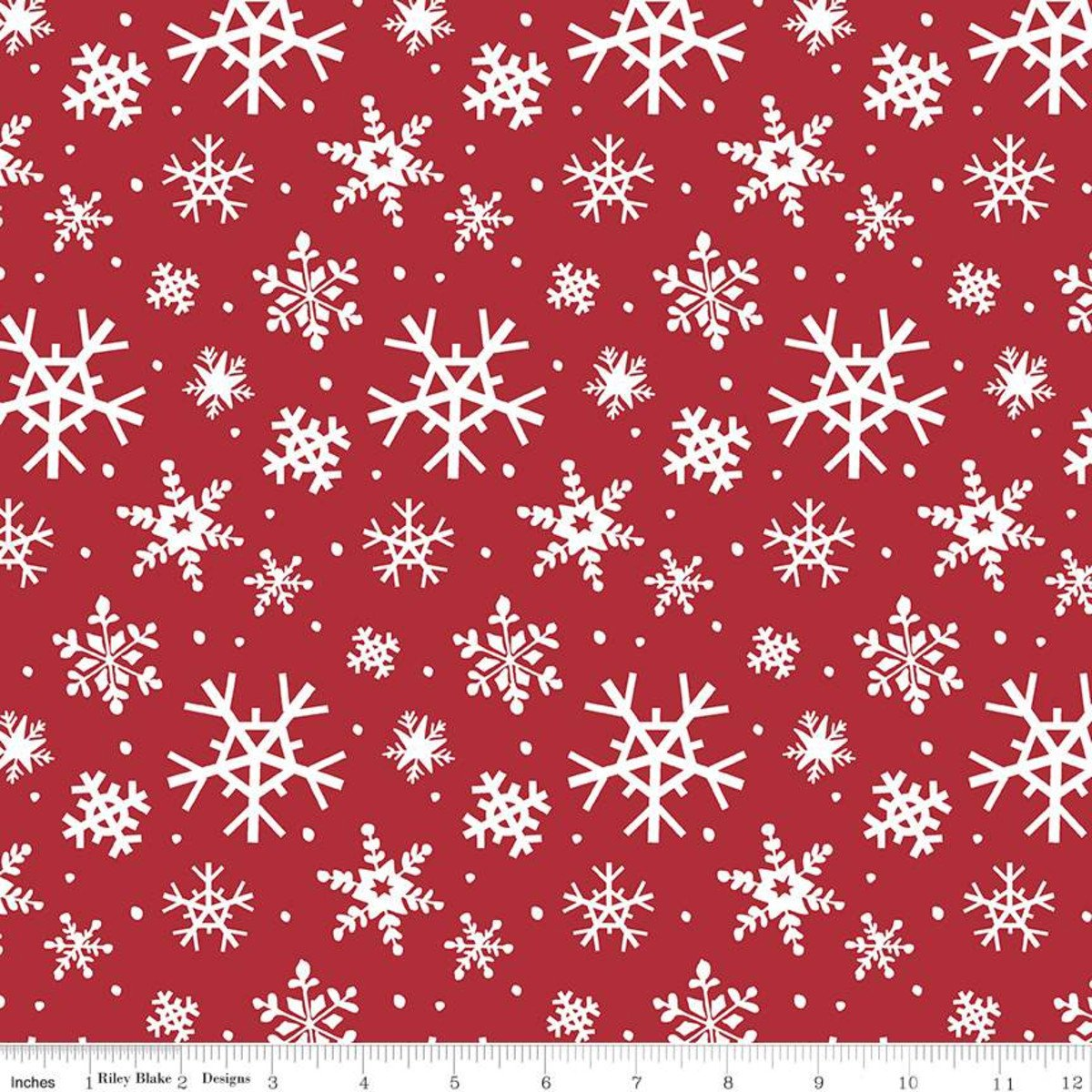 Holly Holiday Snowflakes C10882 Red