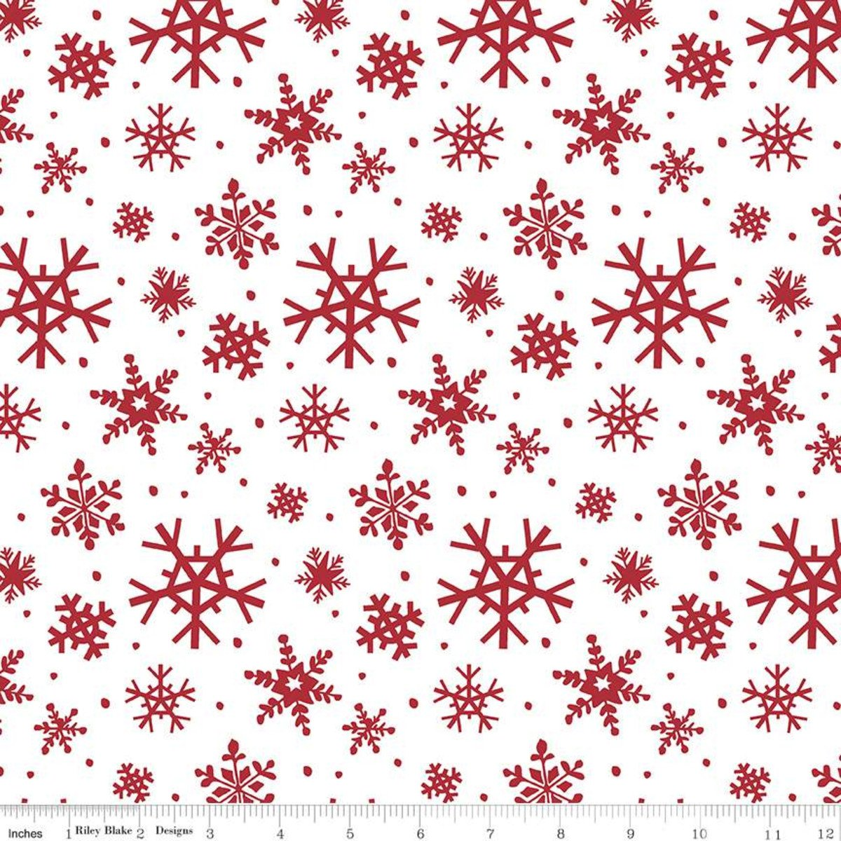 Holly Holiday Snowflakes C10882 White