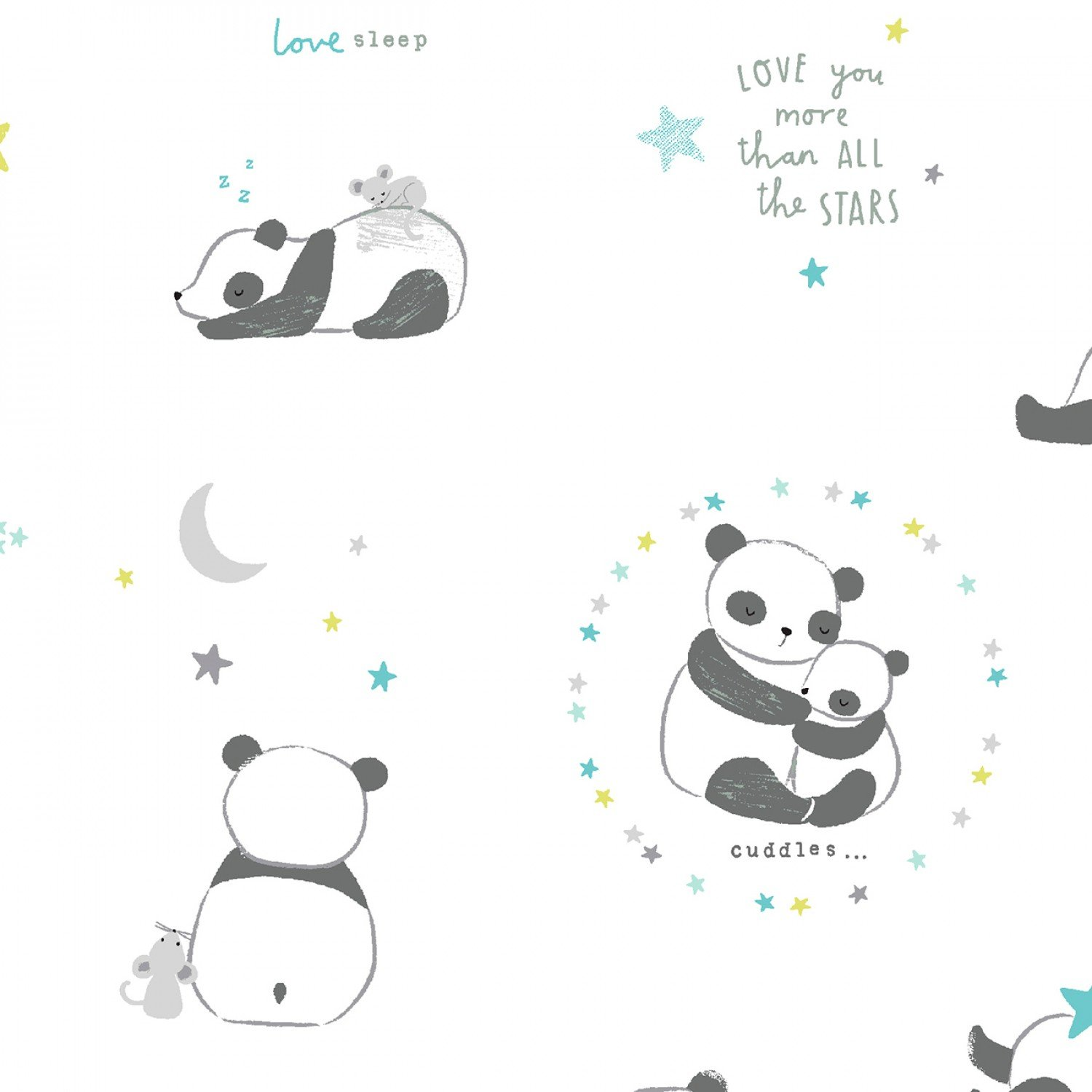 Wide Awake 1148 Pandas White
