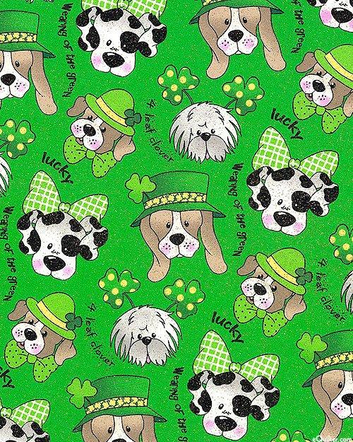 St. Pats Pups 0403 Green Glitter