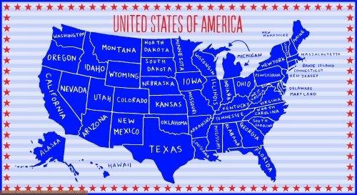 USA Map 41607P