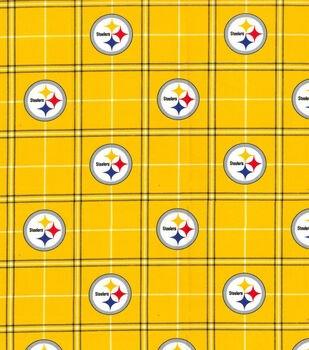 NFL Logo Pittsburg Steelers 70361 Yellow Plaid 45