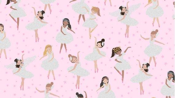 Glitter Ballerinas M1642 Blush