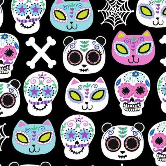 Sugar Skulls C7328 Black