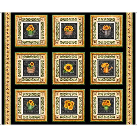 Always Face Sunshine Sunflower Patches 27843-J Panel