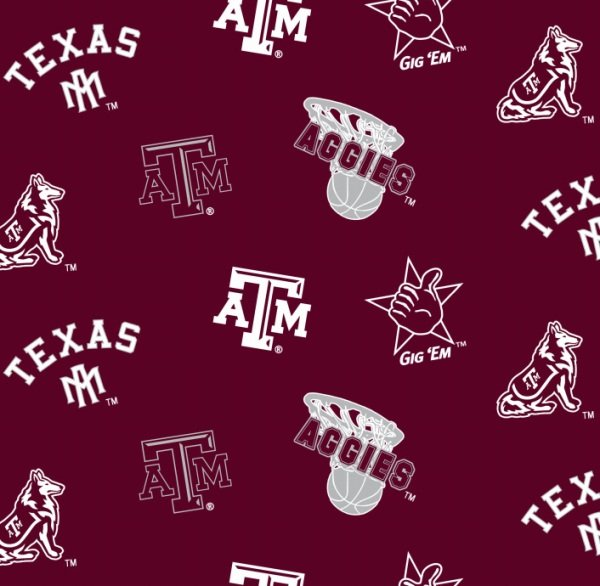 END OF BOLT NCAA Texas A&M Aggies 045 Maroon - .96 YD