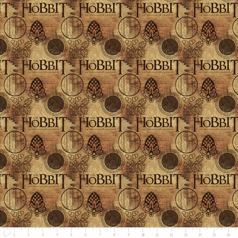 Lord of the Rings 242100005J-1 Hobbit Logo Brown