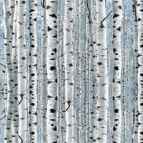 Timberland Trail 26808-B Birch Trees Blue