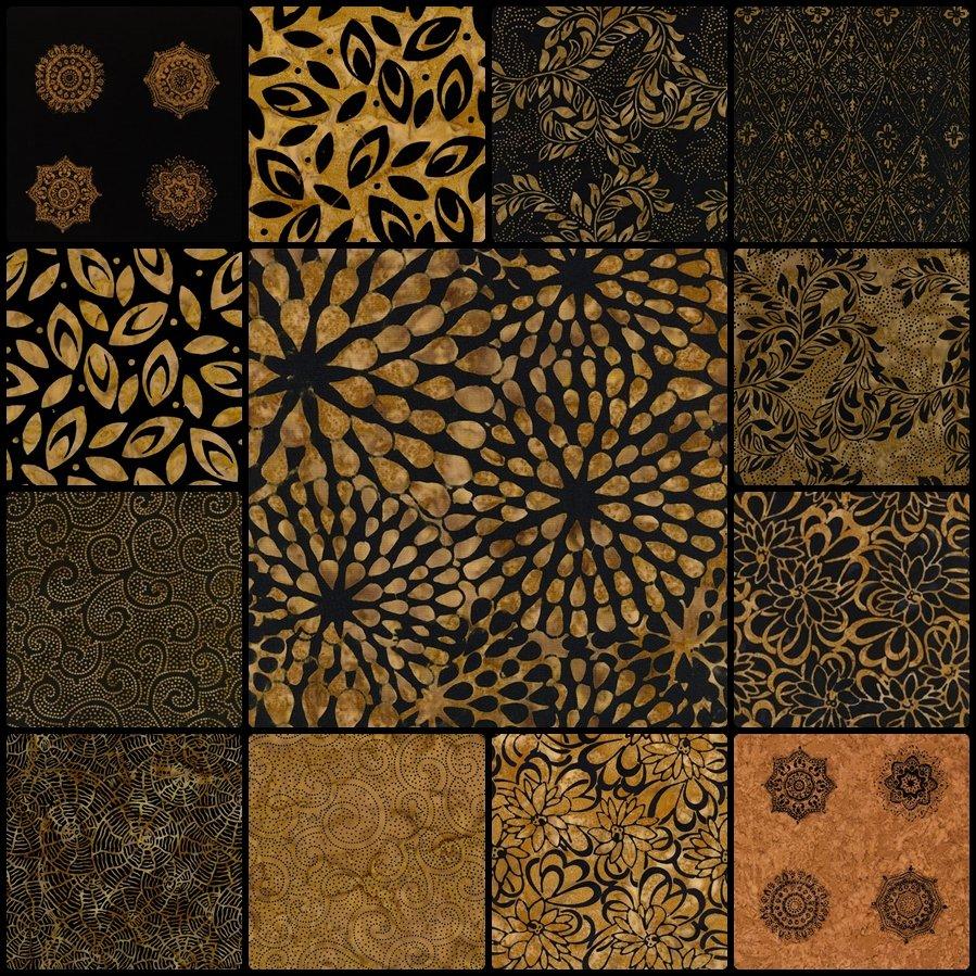 Tonga Batik Babylon 12 Piece FQ Bundle #3901