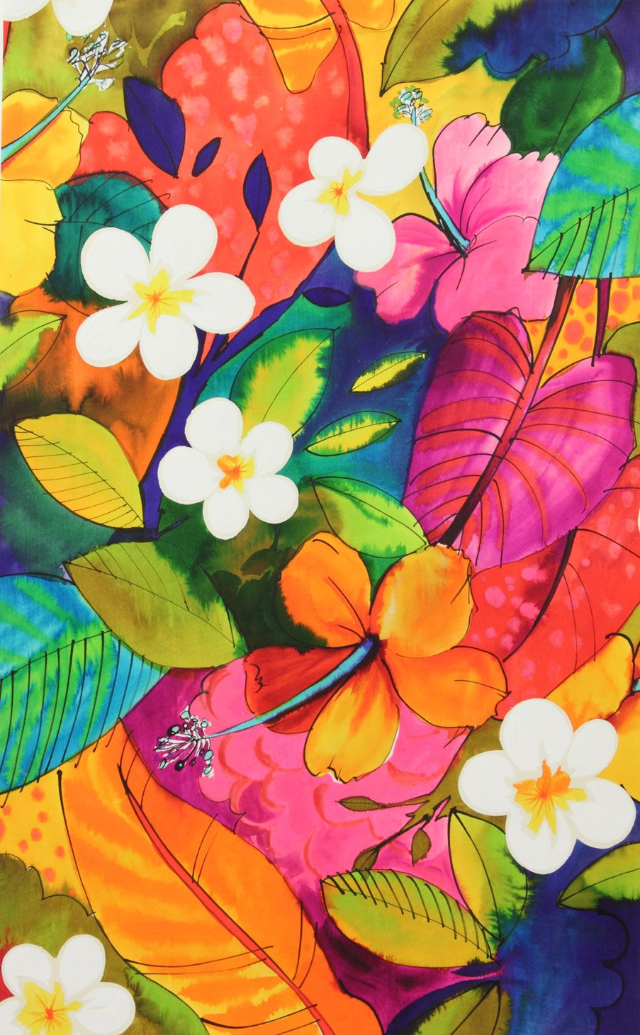 Tropical Floral 7563-A Large