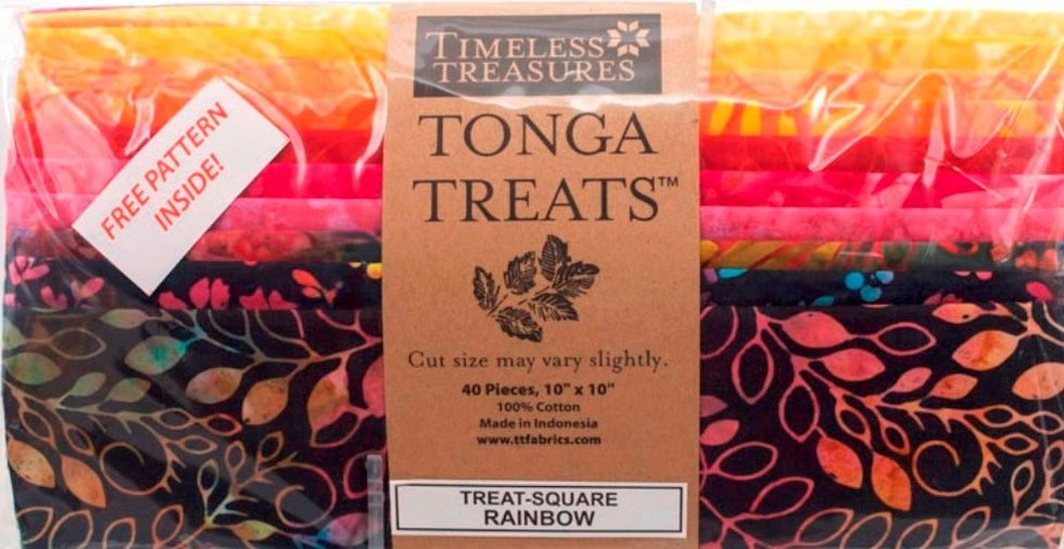 Tonga Treats 10 Squares Rainbow