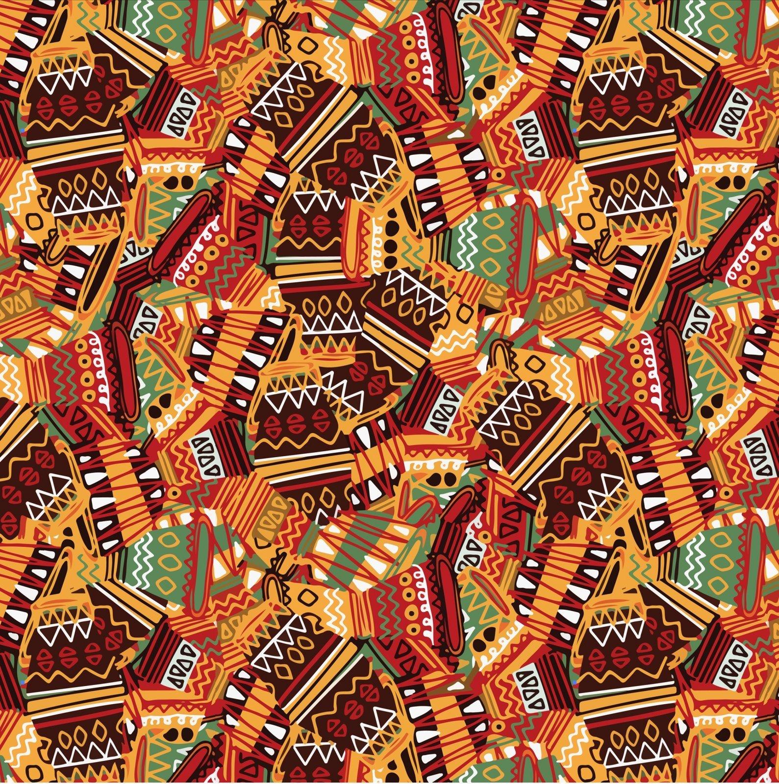Tribal Vases 0480 Orange
