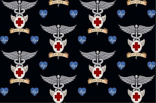 Medical Doctor Symbols 24929-J Black