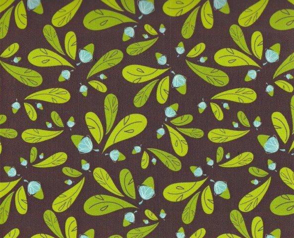 Flannel Acorn Leaf 6180103-1 Brown