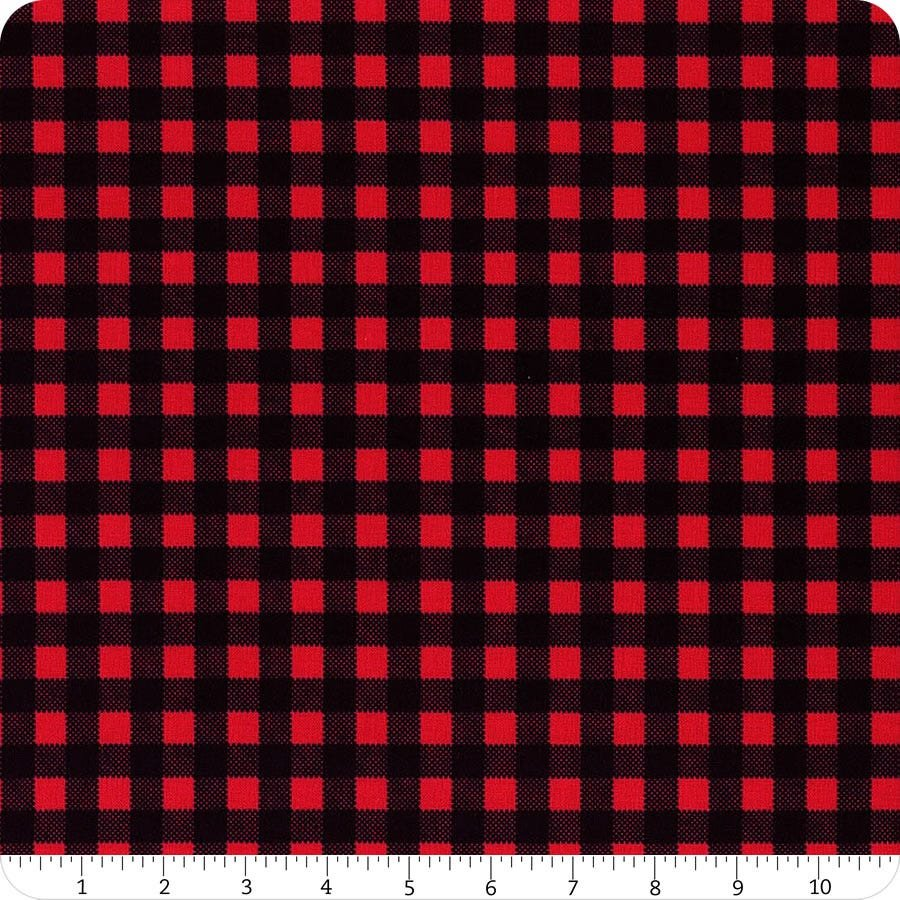 Wild At Heart C9827 Red Buffalo Plaid
